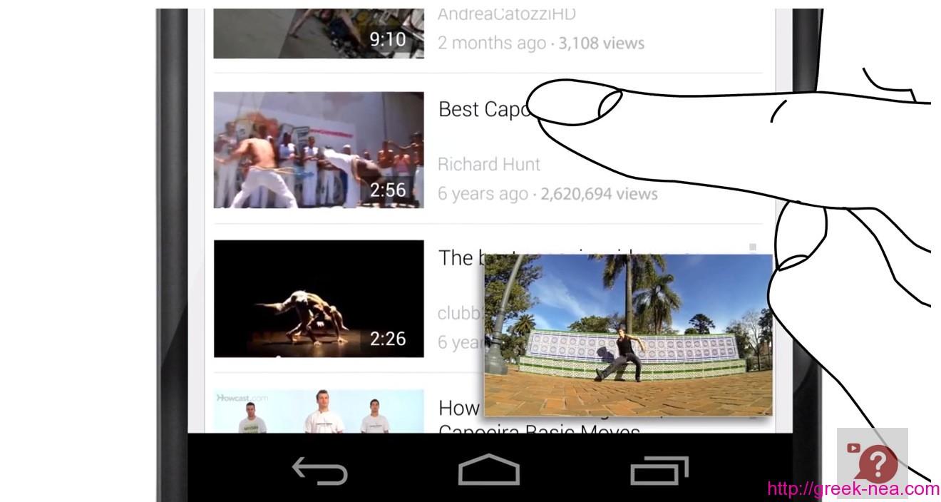 Multitasking η νέα εφαρμογή του Youtube