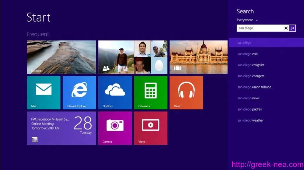 Microsoft-Windows 8.1 Smart Search