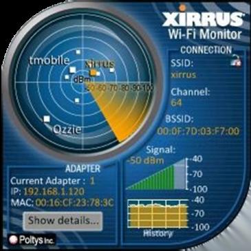 Αναλυση WiFi Δικτυου -Xirrus Wi-Fi Inspector