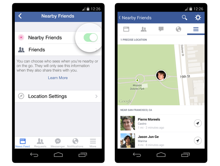 Facebook-near-by-friend-gps-location
