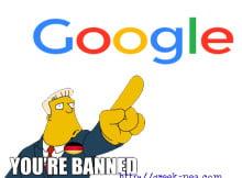 Google bannded in gremany