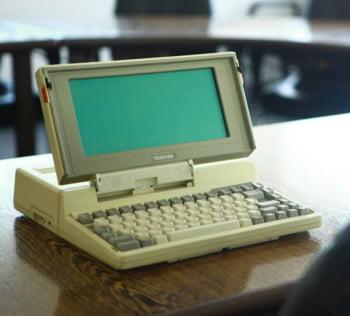 Toshiba T1100 το πρωτο λαπτοπ στον κοσμο!